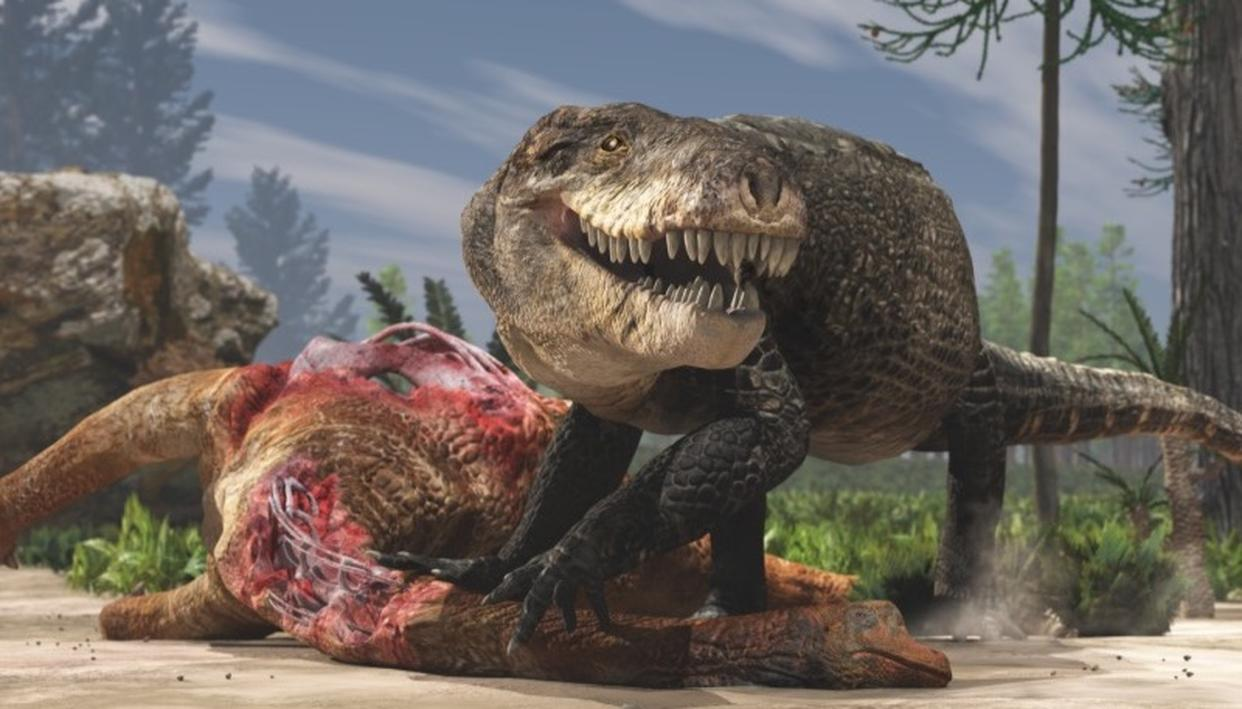 Artist's rendition of the monstrous crocodile. (Source: Natural History Museum of Milan)