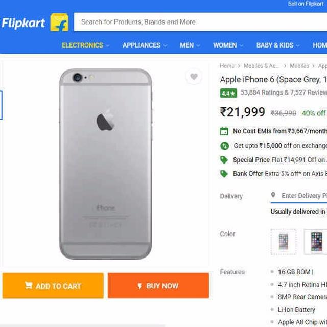 Flipkart offers Apple iPhone 6 at Rs 21,999 as a special deal for Fathers Day