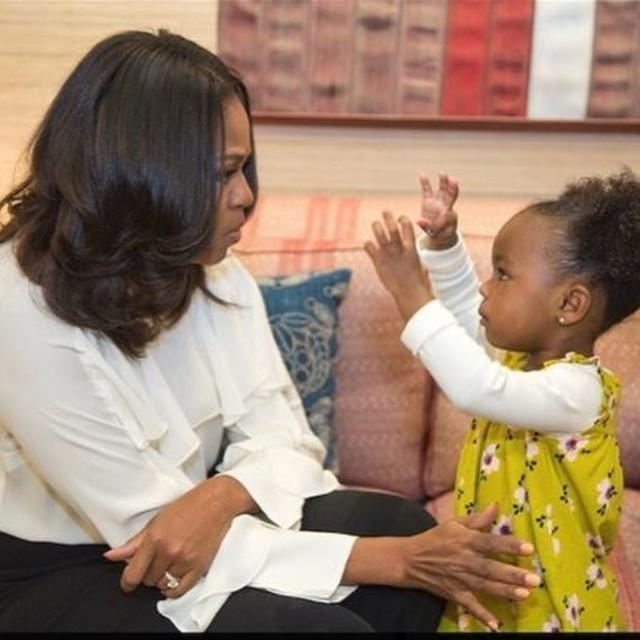 MICHELLE'S YOUNGEST FAN TRENDING ON INTERNET