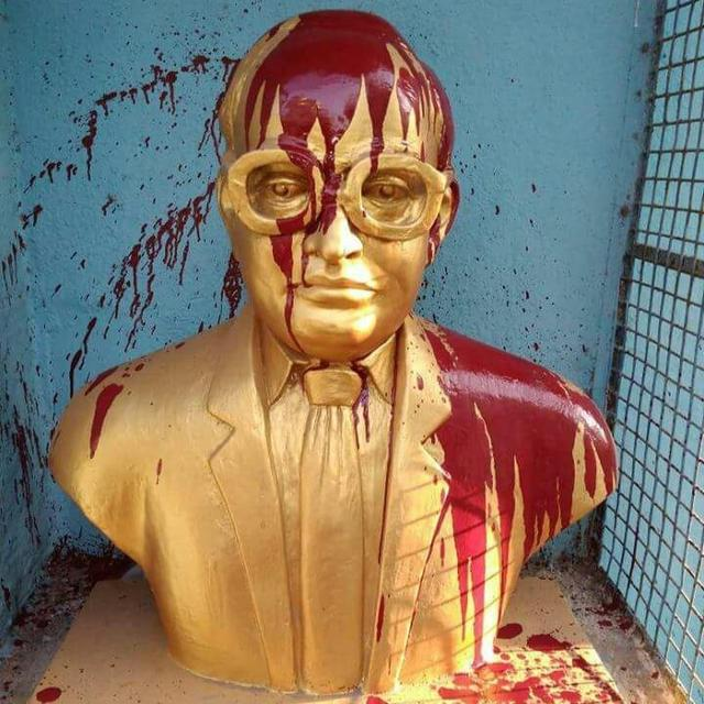 AMBEDKAR'S STATUE VANDALISED IN CHENNAI